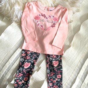Little Lass Be Kind Outfit Sz 18 Months
